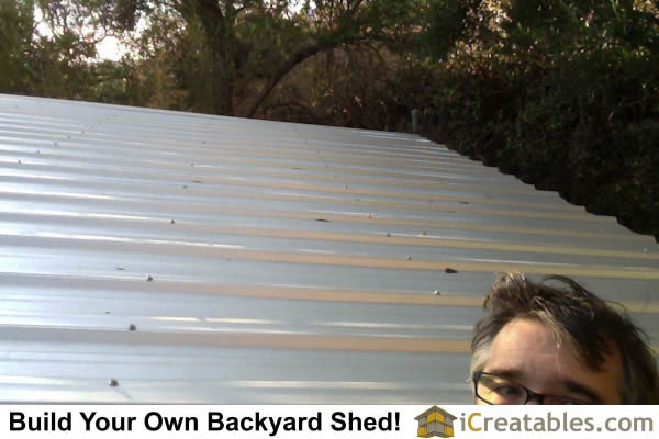 10x12 Modern Shed Roofing