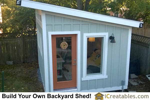 Lean To Shed Plans - Extra Storage Space - Large Shed Plans