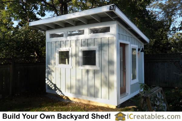 completed modern art studio shed - Garden Sheds Virginia