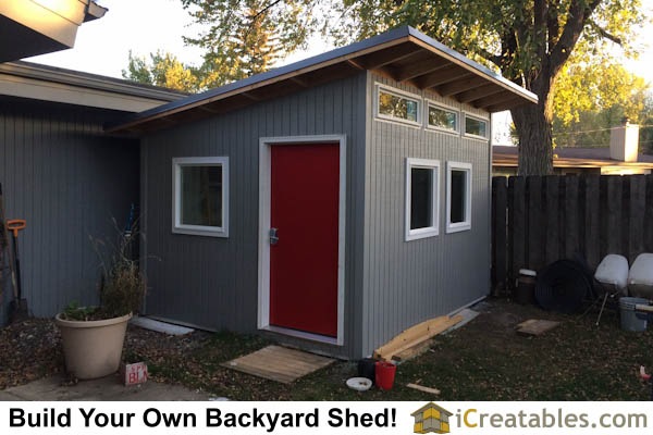 10x12 Modern Shed. 10x12 Studio Shed Plans S3   10x12 Office Shed Plans   Modern Shed