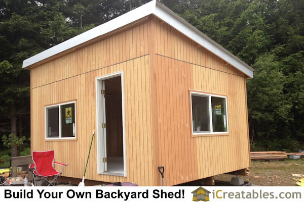 12x16 Studio Shed Completed right side.