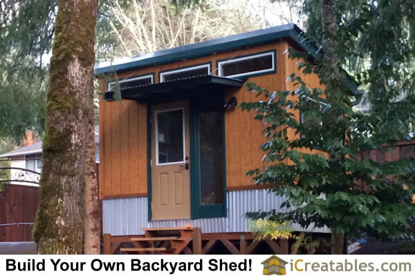 8x12 modern shed with custom exterior