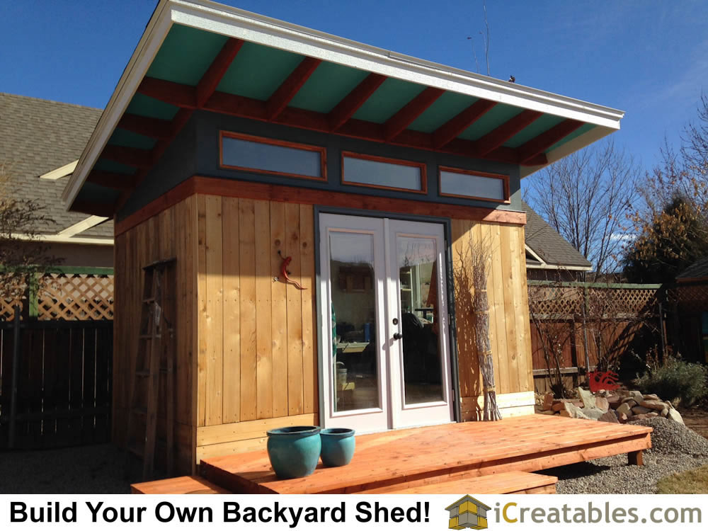 modern shed plans by icreatables.com
