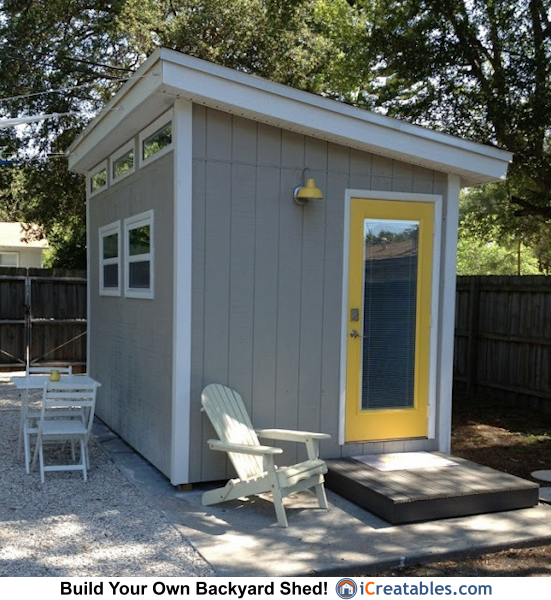 Modern shed plans modern diy office studio shed designs for Building a home office in backyard