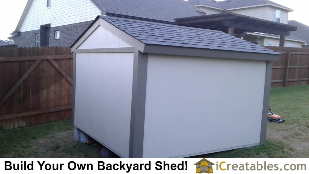 Left Rear side of the 8x8 short shed.