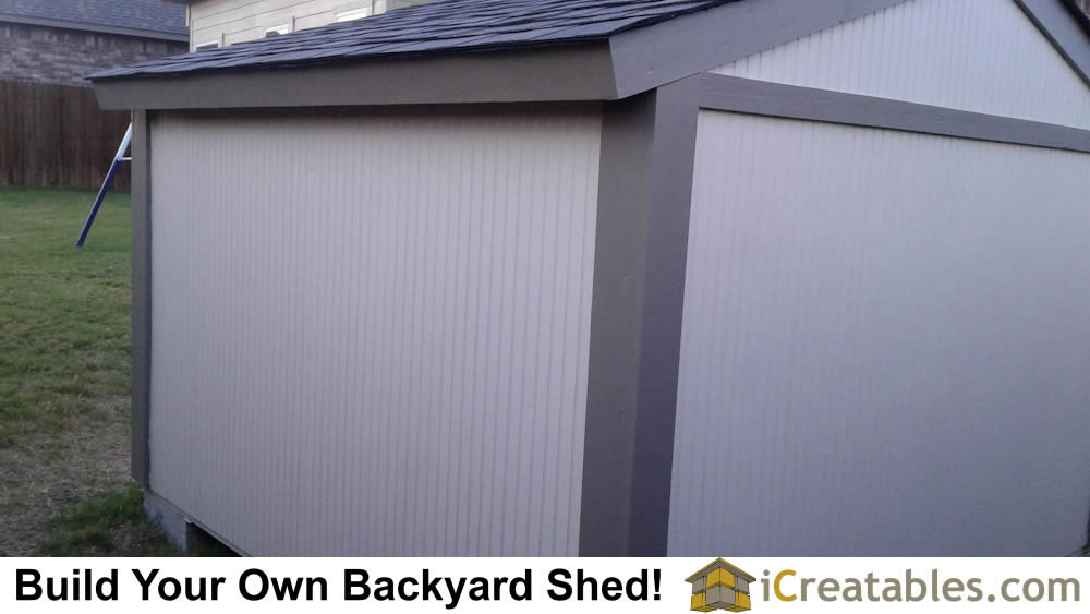 Rear View of short shed.