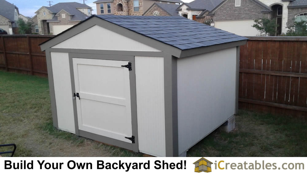 Front of short shed showing 6 foot tall design.