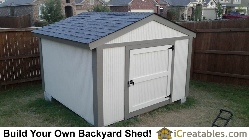 This short shed plan is designed to be 6 feet tall to meet the height requirements of some HOA or even city regulations. The door on this shed is about 4 feet tall.