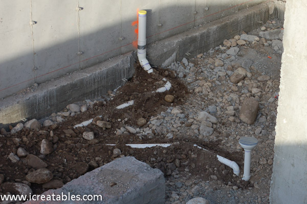 plumbing for the furnace utility room there is a floor drain
