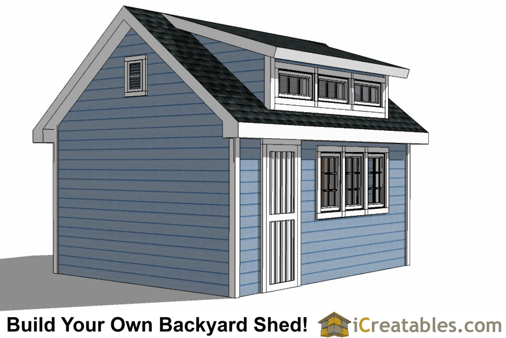 10x16 shed plans with dormer for Shed dormer house plans