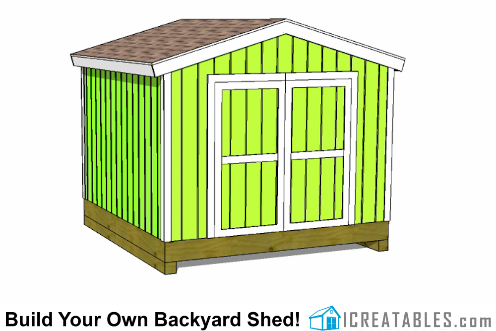 10x10 Backyard Storage Shed Floor Plan