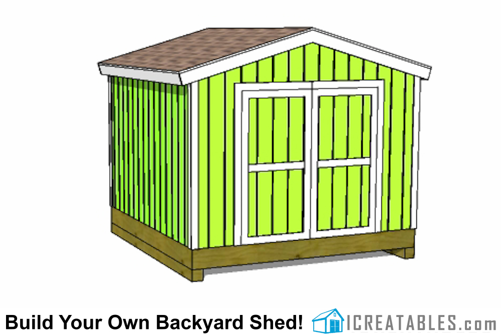 10x10 gable shed