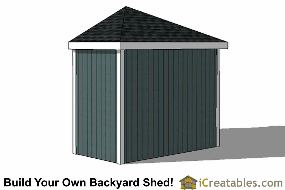 10x10 5 Sided Corner Shed Plans – 5 Sided Garden Shed Plans