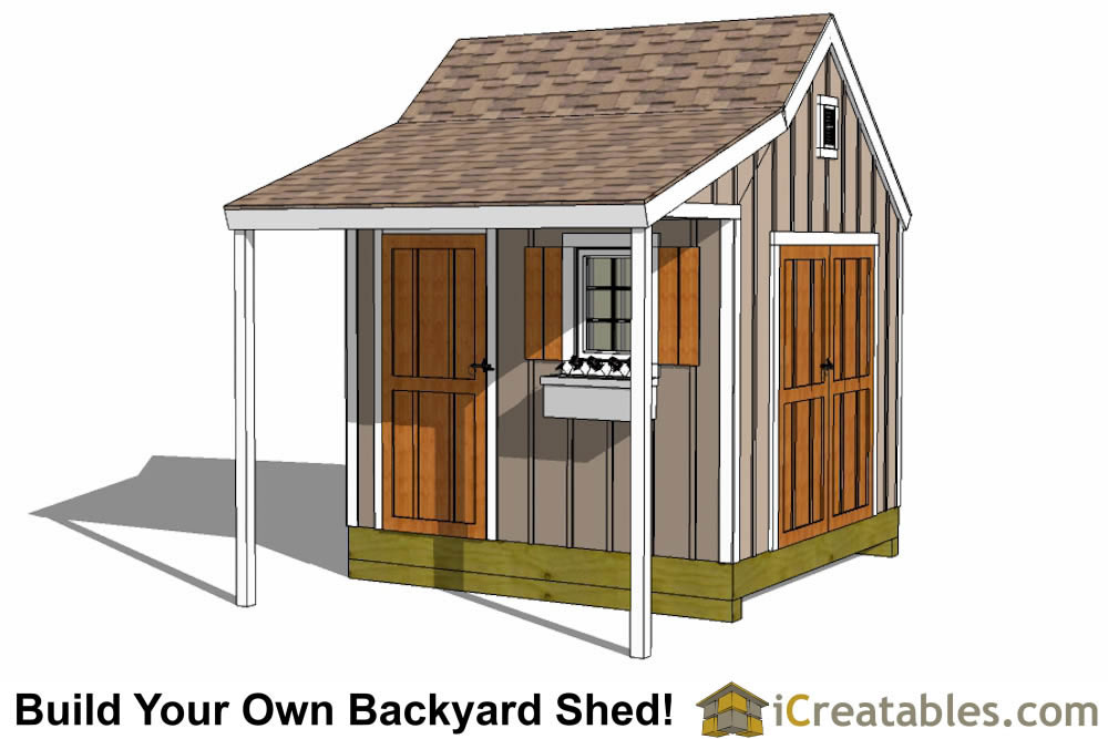 10x10 shed plans storage sheds small horse barn designs for Garden shed 10x10