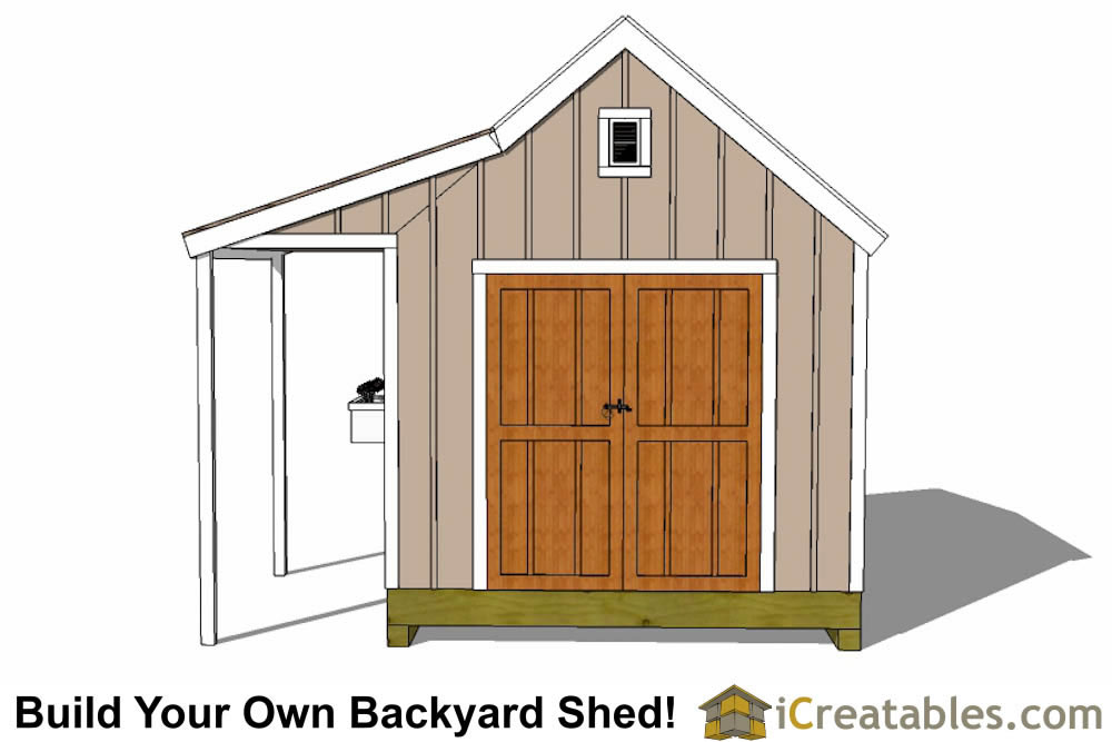10x10 shed plans with porch cape cod shed new england for 10x10 house design