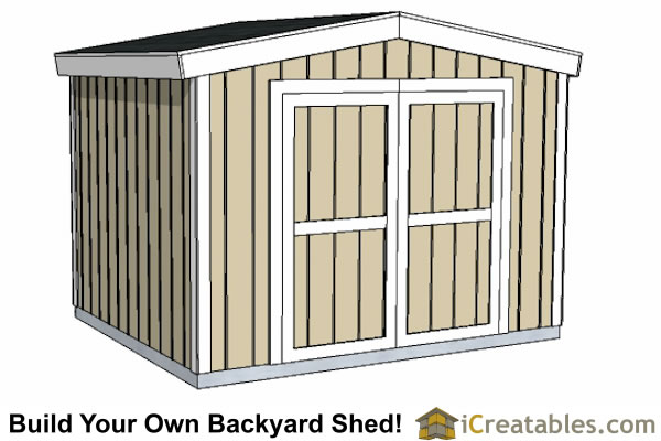 8x10 8 Foot Tall Gable Shed