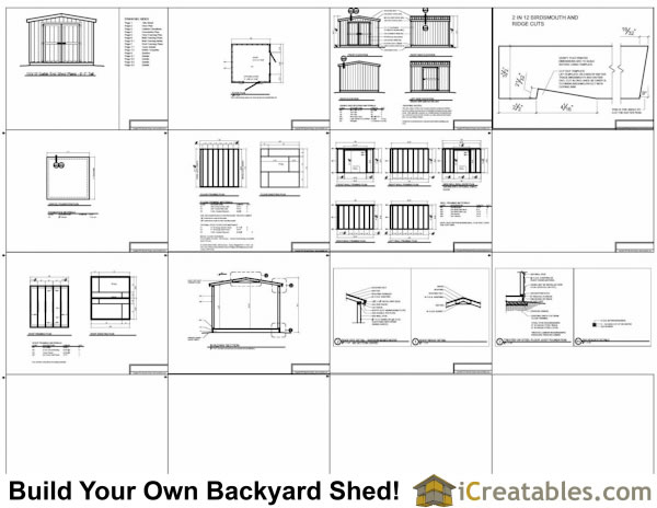 10x10 shed plans example