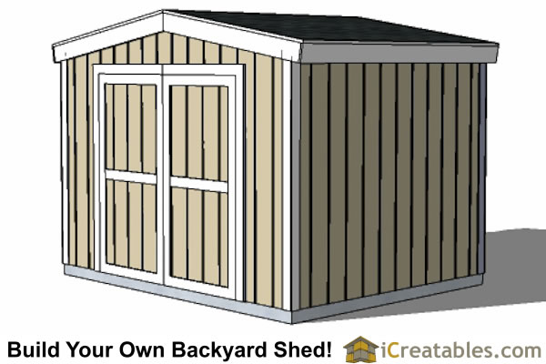 10x10 short shed plans under 8 foot shed for Garden shed 10x10
