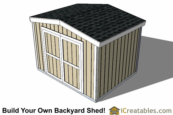 10x10 8 foot tall shed plans top