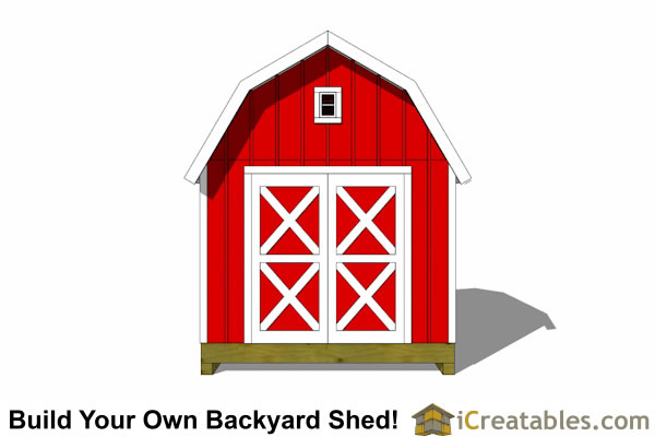 10x10 gambrel shed end