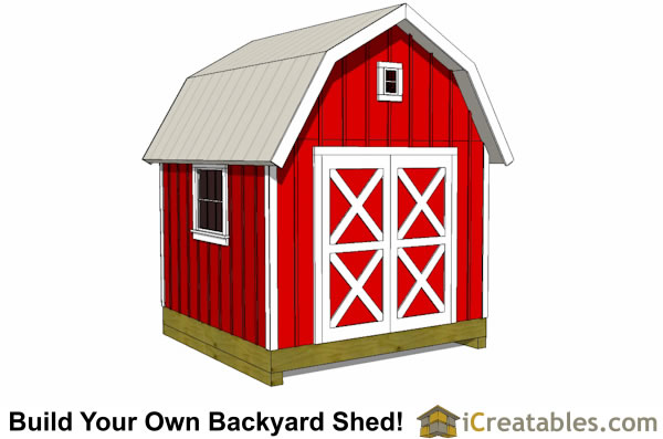 10x10 gambrel shed plan front
