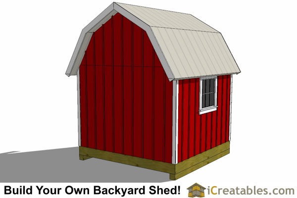 10x10 gambrel shed plan rear