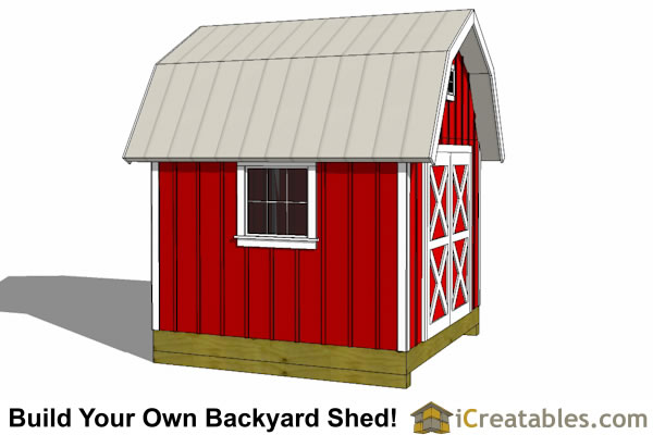 10x10 gambrel barn shed top