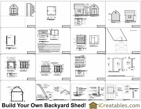10x10 gambrel shed plans example
