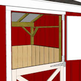 10x10 one stall horse barn inside
