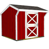 10x10 one stall horse barn front