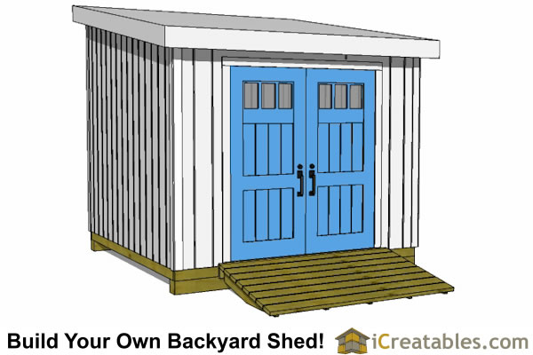 10x10 lean to shed plan