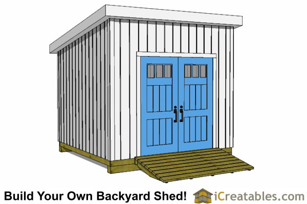 10x10 lean to shed plans door on high side