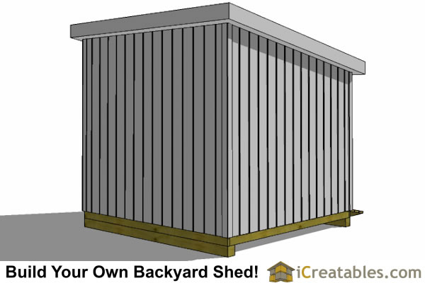 10x10 lean to shed rear