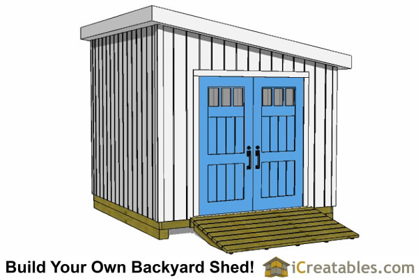 10x10 lean to shed plans door on angled