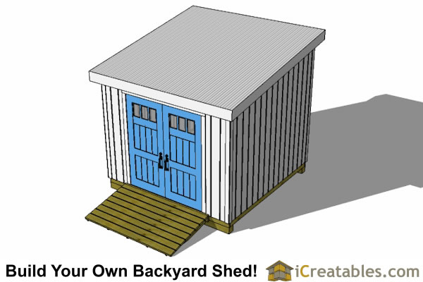 10x10 lean to shed top