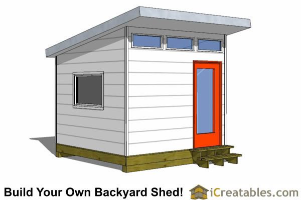 10x10 modern shed plans