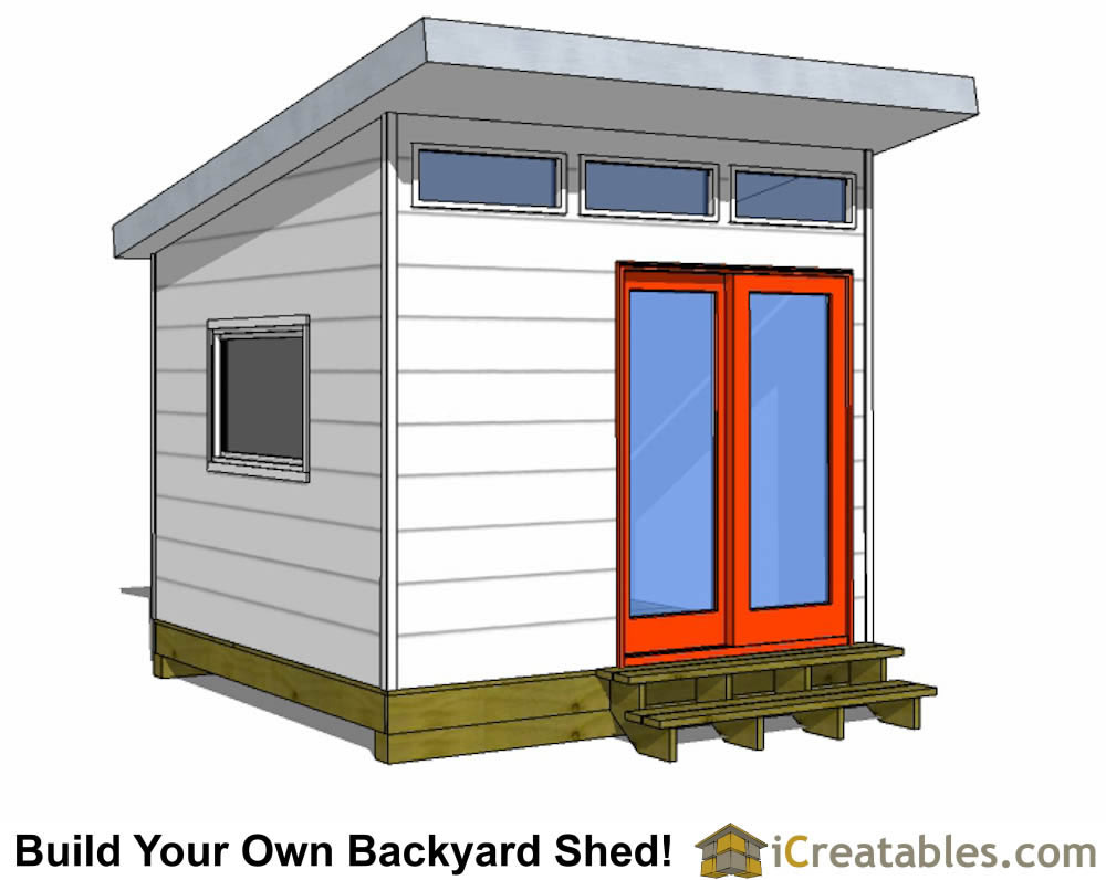10x10 studio shed plans 10x10 office shed plans modern for Shed design plans