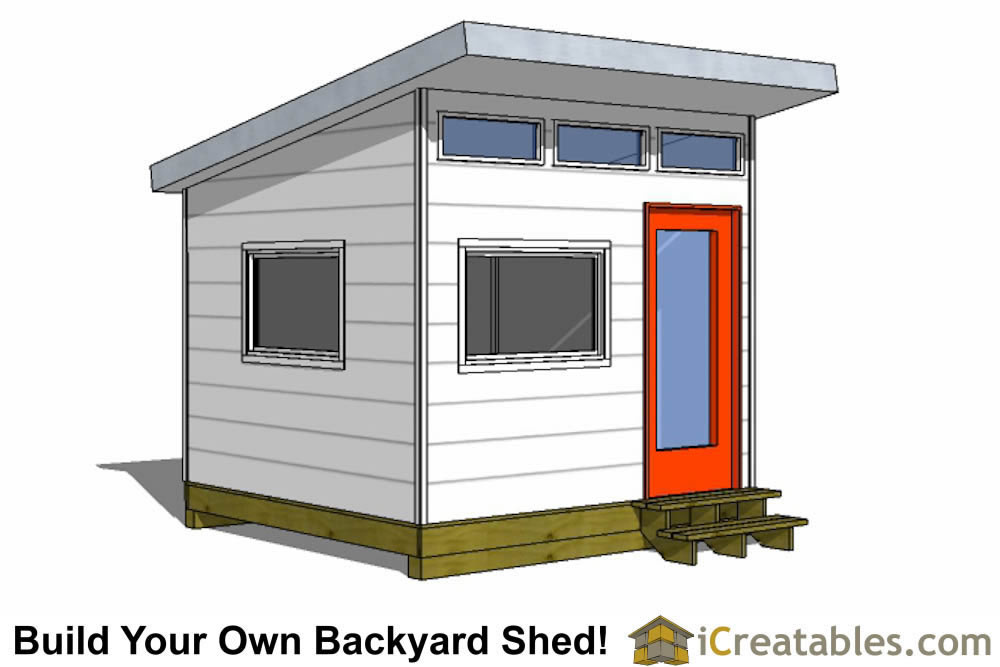 10x10 studio shed plans 10x10 office shed plans modern For10x10 House Design
