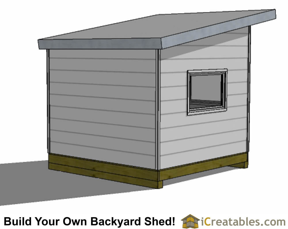 10x10 studio shed plans rear view