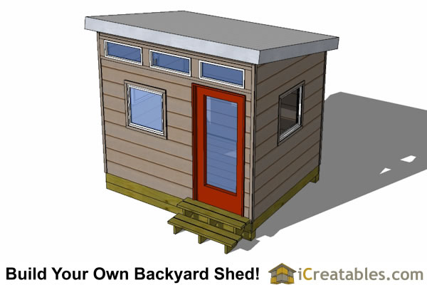 10x10 Studio Shed Plans | 10x10 Office Shed Plans | Modern Shed