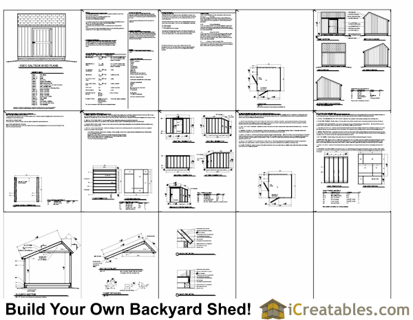 10x10 salt box shed plans example