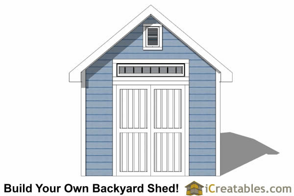 10x10 Traditional Victorian Style Storage Shed elevation