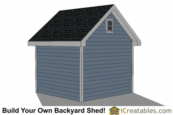 10x10 Traditional Victorian Style backyard storage shed right