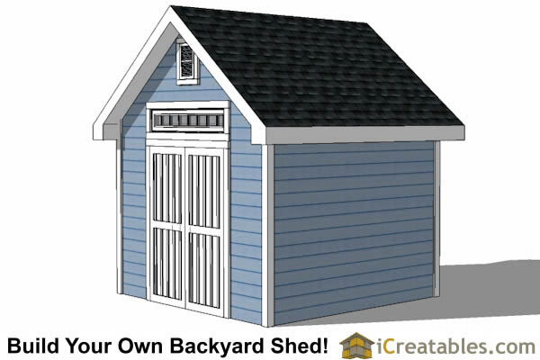 10x10 Traditional Victorian Style Storage Shed Plans right side