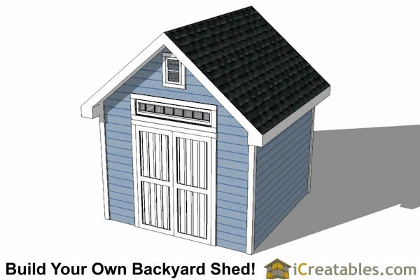 10x10 Traditional Victorian Style Storage Shed Plans top view