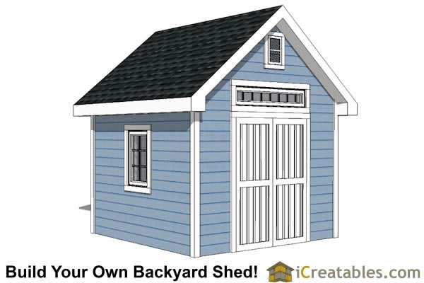10x10 Traditional Victorian Style Storage Shed Plans