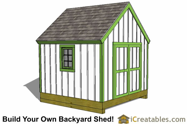 10x10 cape cod new england shed plan