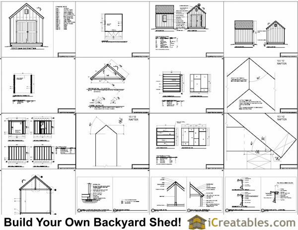 10x10 cape code style shed plans