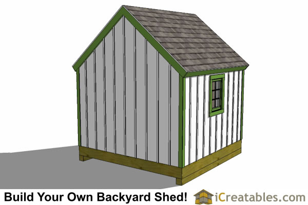 10x10 shed plan rear