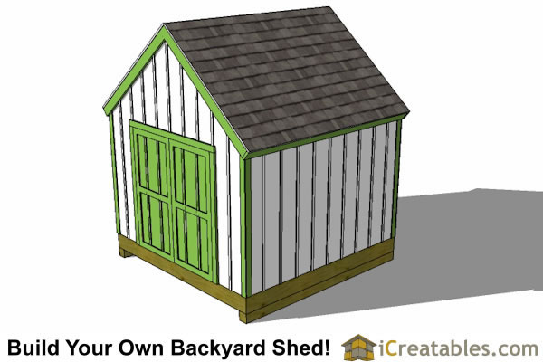 10x10  shed plan right